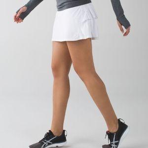Lululemon Pace Setter Skirt in White